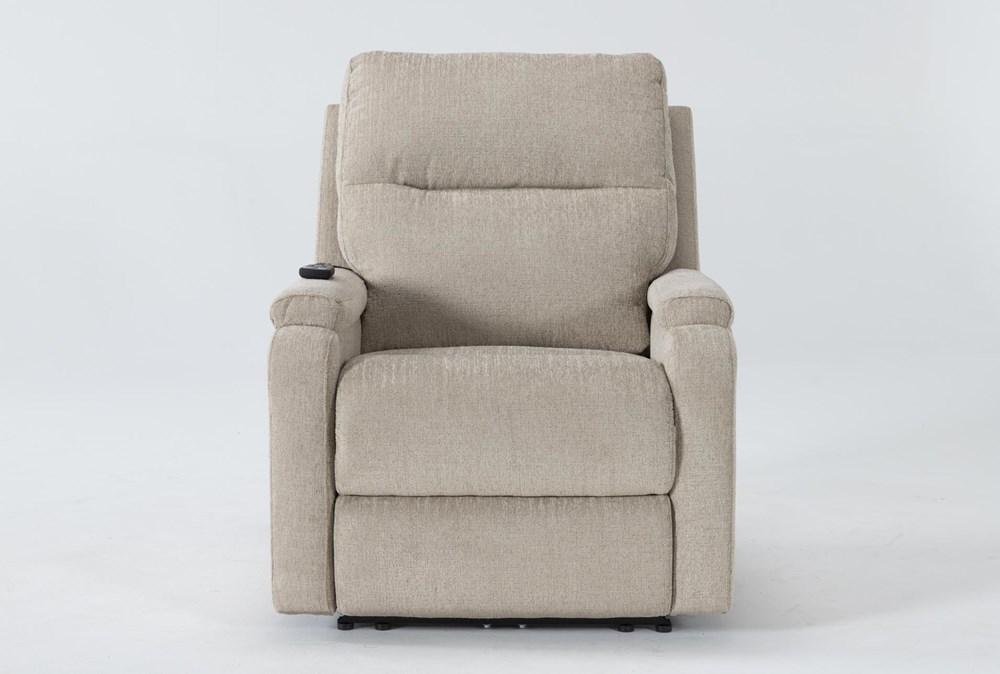 Majorca Fawn Power Recliner With Power Headrest,Lumbar And Massage