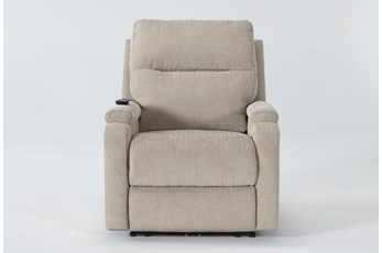 Majorca Fawn Power Recliner With Power Headrest,Lumbar And Massage