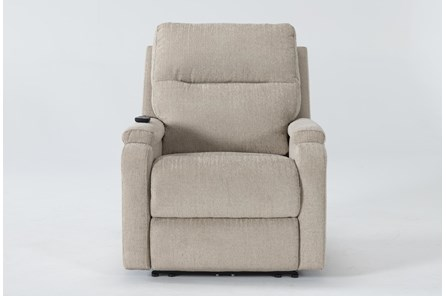 Majorca Fawn Power Recliner With Power Headrest,Lumbar And Massage - Main