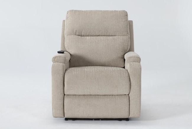 Majorca Fawn Power Recliner With Power Headrest,Lumbar And Massage - 360