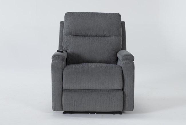 Majorca Sterling Power Recliner With Power Headrest,Lumbar And Massage - 360
