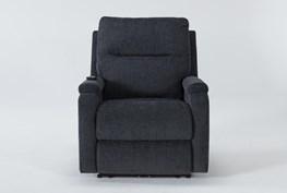 Majorca Graphite Power Recliner With Power Headrest,Lumbar And Massage