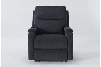 Majorca Graphite Power Recliner With Power Headrest,Lumbar And Massage