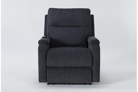 Majorca Graphite Power Recliner With Power Headrest,Lumbar And Massage - Main