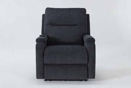 Majorca Graphite Power Recliner With Power Headrest,Lumbar And Massage - Main