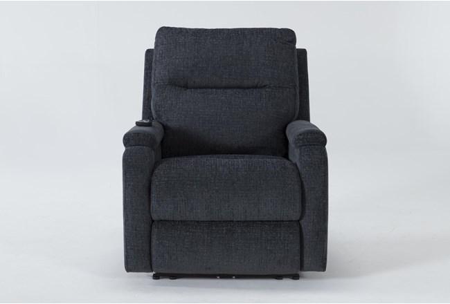 Majorca Graphite Power Recliner With Power Headrest,Lumbar And Massage - 360