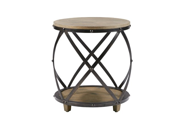 Madison Park Wells Bent Metal Accent Table - 360