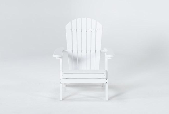 White Outdoor Adirondack Chair - 360