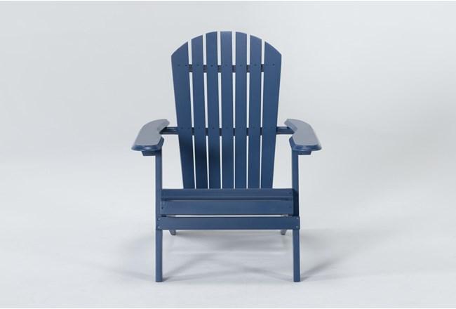 Navy Outdoor Adirondack Chair - 360