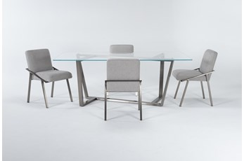 Daphne Glass 5 Piece Dining Set