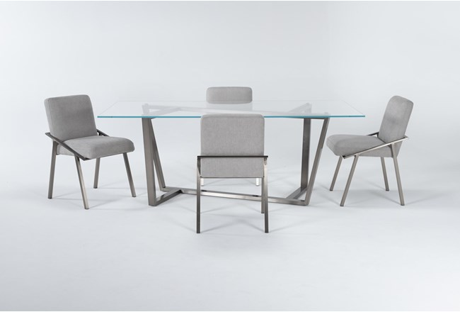 Daphne Glass 5 Piece Dining Set - 360