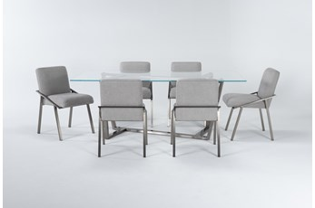 Daphne Glass 7 Piece Dining Set