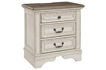 "Realyn Three Drawer  28"" Nightstand"