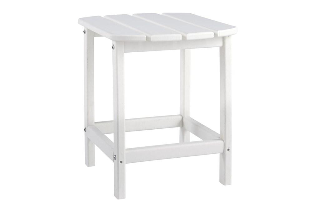 Verbena White Outdoor End Table