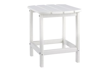 Verbena White Outdoor End Table