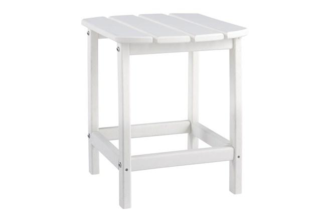 Verbena White Outdoor End Table - 360
