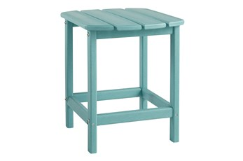 Verbena Teal Outdoor End Table
