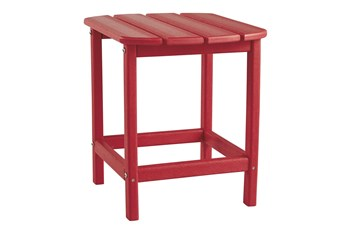 Verbena Red Outdoor End Table