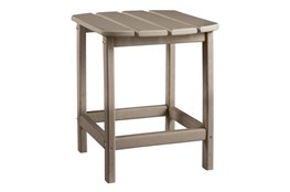 Verbena Taupe Outdoor End Table