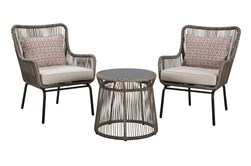 Natural Woven Outdoor 3 Piece Lounge Sent