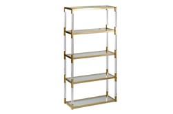 "Shiny Gold 71"" Bookcase"