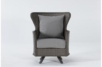 Sanibel Outdoor Swivel Wing Back Chair