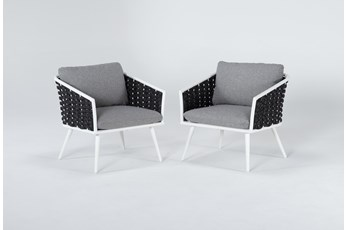 Bondi Outdoor 2 Piece Lounge Chair Set