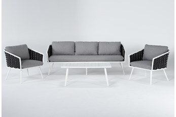 Bondi Outdoor 4 Piece Lounge Set