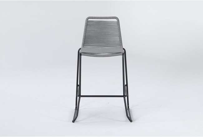 "Caspian Grey Outdoor 30"" Barstool - 360"