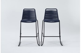 "Caspian Navy 2 Piece Outdoor 42"" Barstool Set"