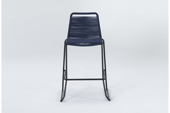 "Caspian Navy Outdoor 30"" Barstool"