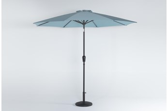 Outdoor Market Crystal Blue Umbrella