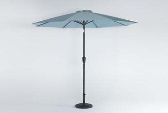 Outdoor Market Crystal Blue Umbrella