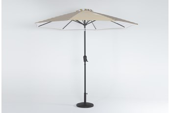 Outdoor Market Mustard Stripe Umbrella