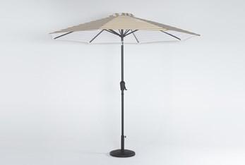 Outdoor Market Mustard Stripe Umbrella