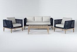 Crew Outdoor 4 Piece Lounge Set