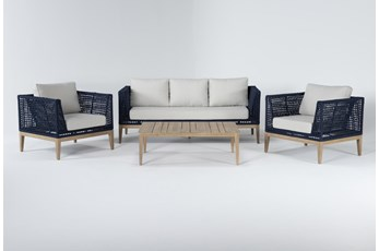Crew Outdoor 4 Piece Lounge Set