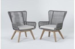 Caspian Grey Outdoor 2 Piece Lounge Set
