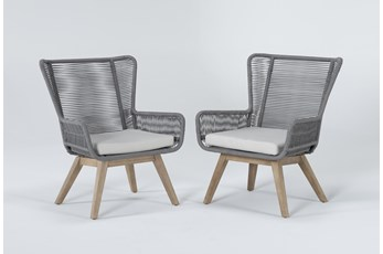 Caspian Grey Outdoor 2 Piece Lounge Set