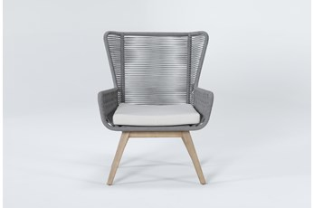 Caspian Grey Outdoor Lounge Chair
