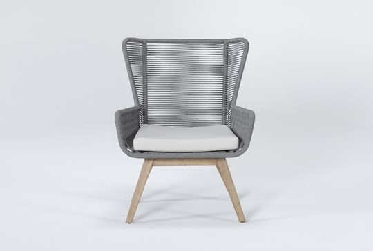 Caspian Grey Outdoor Lounge Chair