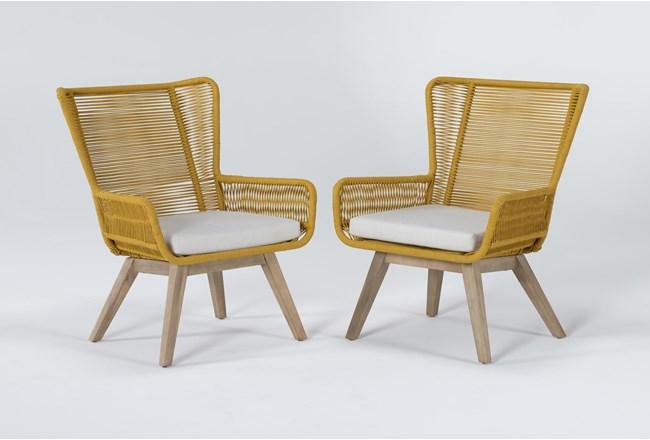 Caspian Mustard Outdoor 2 Piece Lounge Set - 360