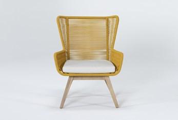 Caspian Mustard Outdoor Lounge Chair
