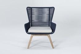 Caspian Navy Outdoor Lounge Chair