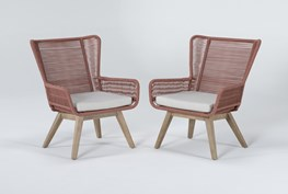 Caspian Terracotta Outdoor 2 Piece Lounge Set