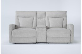 "Halina 3 Piece 83"" Power Reclining Console Loveseat With AC Power & Usb"