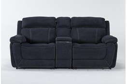 Levi 3 Piece Power Reclining Console Loveseat With Power Headrest & Usb