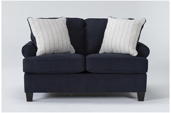 "Cordelia Ink 62"" Loveseat"