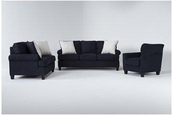 Cordelia Ink 3 Piece Living Room Set