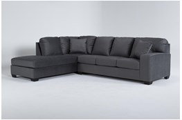 "Romy Graphite 2 Piece 119"" Sectional With Left Arm Facing Chaise"